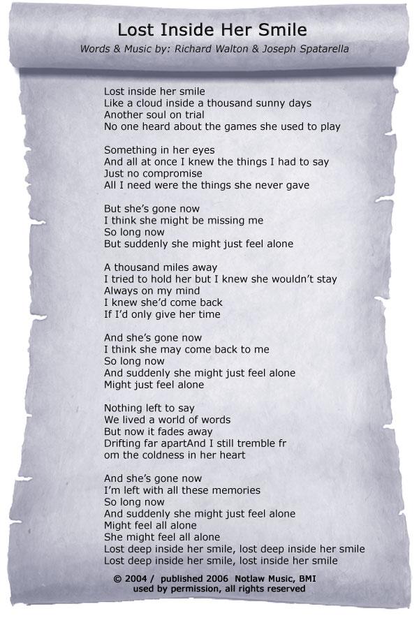 Songtext von Brighten - I Lost Her Lyrics